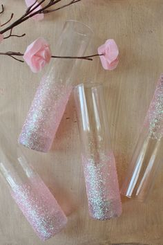 Icing Designs: DIY Glittery Pink Vases