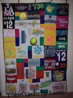 T-shirt quilt..... I need to make one for kids!
