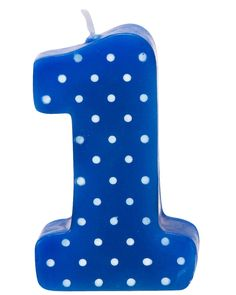 Blue with White Polka Dots #1 Candle