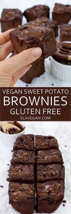 These vegan sweet potato brownies are low in fat, delicious and healthy. The rec. These vegan sweet potato brownies are low in fat, delicious and healthy. The recipe is plantbased, gluten free and refined sugar free Desserts Végétaliens, Vegan Dessert Recipes, Vegan Sweet Potato Recipes, Sweet Potato Brownies Vegan, Dinner Recipes, Sugar Free Vegan Desserts, Cake Recipes, Eggless Desserts, Diet Recipes