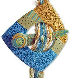 This polymer scarf pin from Julie Picarello provides another good choice for keeping warm with a spot of polymer. Julie's style is distinct and her special techniques are laid out in her new book, Patterns in Polymer which is due out this sprin [...]