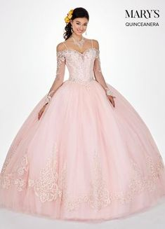 2a09412ac4 Lace Quinceanera Dress with Long Sleeves by Mary s Bridal MQ2060-Mary s  Bridal-ABC Fashion