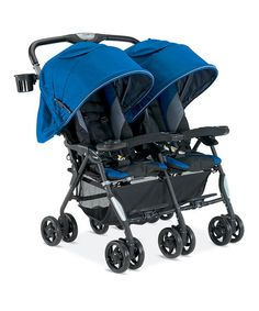 Take a look at this Royal Blue Twin Cosmo Stroller by Combi on #zulily today!