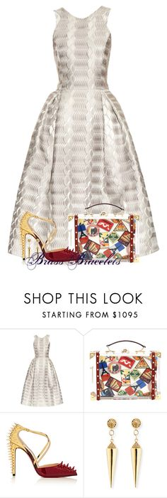 """Untitled #5670"" by brassbracelets ❤ liked on Polyvore featuring Mary Katrantzou, Charlotte Olympia, Christian Louboutin and Sydney Evan"