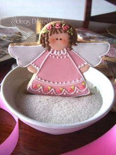 Galletas Bebé_Ángel ♥Ideas Dulces♥ http://ideasdulces.wordpress.com/galletas-recordatorios/