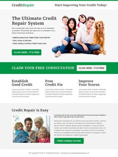 Credit Repair Responsive Landing Pages To Boost Conversion Rates