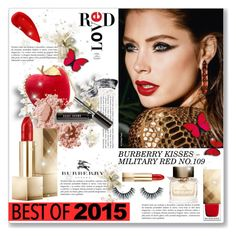 """Best of 2015: Lipstick!"" by dressedbyrose ❤ liked on Polyvore featuring beauty, Bobbi Brown Cosmetics, Burberry and Lipstick Queen"