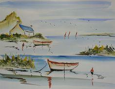 Watercolor Sketch, Watercolor Paintings, Paul Gauguin, Marines, Coloring Books, Pastel, Sketches, Calais, Modernism