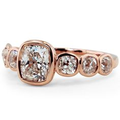 Bezel Ring with Diamond Accents from Brilliant Earth