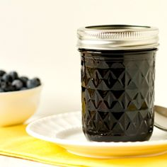 A recipe for homemade blueberry jam - an easy recipe for those new to canning.  Uses liquid pectin.