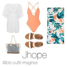 """""""Beach day with Jhope"""" by bts-outfit-imagines on Polyvore featuring Tart Collections, FitFlop, Billabong, women's clothing, women, female, woman, misses and juniors"""
