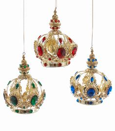 "Katherine's Collection Angels Christmas Collection Set Six Assorted 5"" Jeweled Crown Ornaments Free Ship"