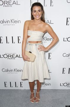 Lea Michele in Calvin Klein at the Elle Women in Hollywood Celebration. Styling by Estee Stanley. Hair by Giannandrea. Manicure by Ashlie Johnson.