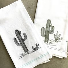 Saguaro days Free Motion Embroidery, Machine Embroidery, Half Apron, The White Company, Dry Goods, Cotton Thread, Tea Towels, Etsy Seller, Creative
