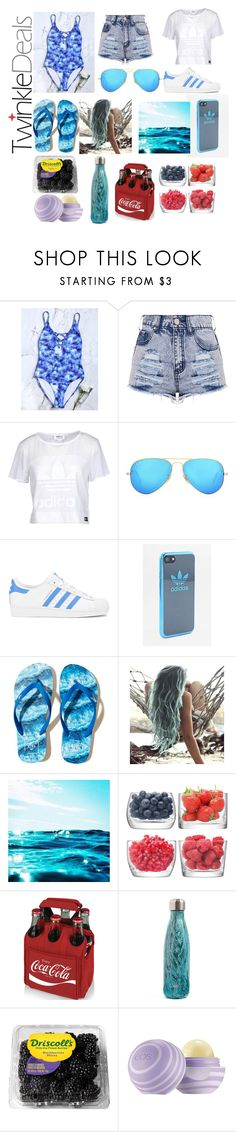 """Twinkle deals"" by sofiagarcia-27 ❤ liked on Polyvore featuring adidas Originals, Ray-Ban, adidas, Hollister Co., LSA International, Picnic Time, S'well and Eos"