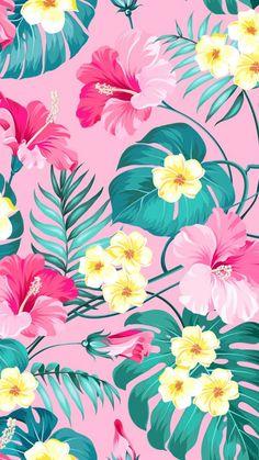 Floral Pattern – My ideas, my pins 2020 Flor Iphone Wallpaper, Flowery Wallpaper, Tropical Wallpaper, Summer Wallpaper, Iphone Background Wallpaper, Pattern Wallpaper, Screen Wallpaper, Kitchen Wallpaper, Locked Wallpaper
