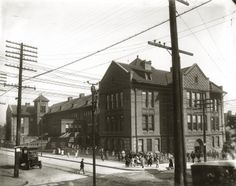 Patrick Henry School at the corner of Tenth and Biddle Streets.   collections.mohistory.org
