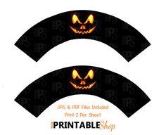 Halloween Cupcake Wrappers  Printable Cupcake by YourPrintableShop
