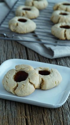 Julie infuses gummy-topped thumbprint sugar cookies with her favorite soft drink, Dr. Pepper.
