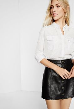 1a75981e0bd Pindot City Shirt By Express White Women s Medium
