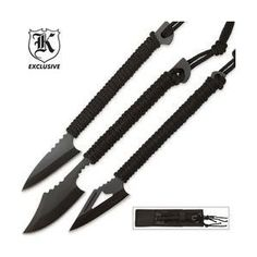 Survival Harpoons Triple Knife Set with Sheath