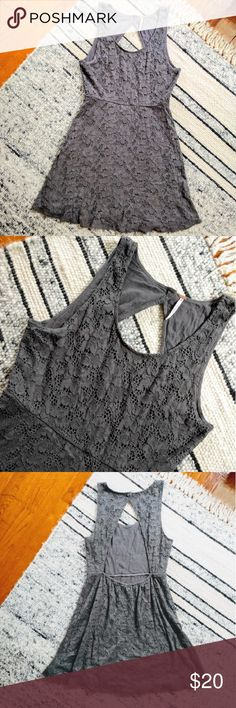 Free People lace knit dress Pretty and casual Free People dress. Light grey color. Gently worn. Best for a 6-8. Measurements coming! Free People Dresses