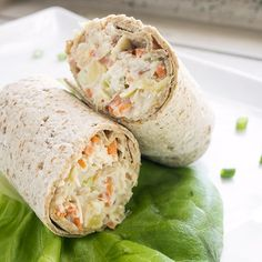 A light lunch that offers great, refreshing flavor. This wrap is a great change up from the ordinary lunchmeat sandwich, and your family will be begging for this low calorie wrap to get them through midday hunger!