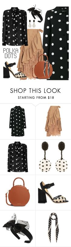 """""""Polka Dots Mania"""" by yinggao ❤ liked on Polyvore featuring Boutique Moschino, J.Crew, Oscar de la Renta, Mansur Gavriel, Charlotte Olympia, Miss Selfridge, Marc Jacobs, PolkaDots and winterstyle"""