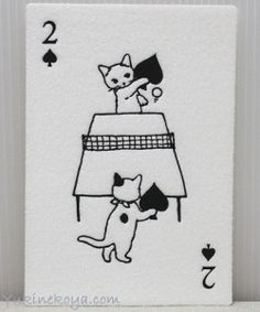 not playing cards - flocked, Fluffy cat postcards http://www.yukinekoya.com/nekozakka/it005/it005_item01_28.html