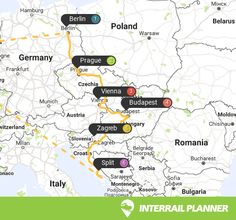 Interrail Routes For Croatia Map Maps Pinterest Croatia Map - Croatia interactive map