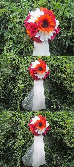 Ribbons and Bows 20941: 10 Wedding Pew Bows*Flowers*Fall* Decorations* -> BUY IT NOW ONLY: $69.99 on eBay!