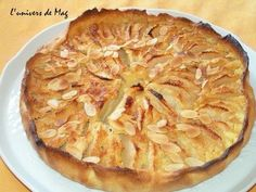 Norman apple pie Add a little almond extract Attention cooking: + & # so that the bottom is well cooked …. Apple Desserts, Apple Recipes, Delicious Desserts, Snack Recipes, Easy Recipes, French Apple Tart, Yummy World, Thermomix Bread, Good Pie