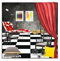 """MAGIC #2"" by kskafida ❤ liked on Polyvore featuring interior, interiors, interior design, home, home decor, interior decorating, Bitossi, Nuevo, Surya and Hemingway"