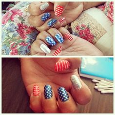 madawissaaa675's 4th of July nail inspo. Tag yours with #SephoraNailspotting for the chance to be featured! #Sephora #nails #nailpolish