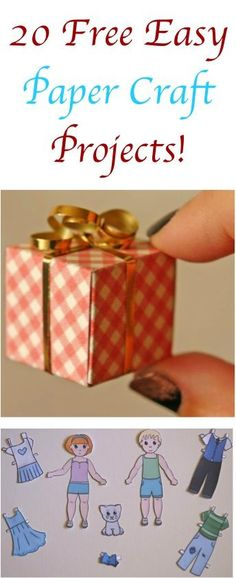20 FREE Easy Paper Craft Projects!