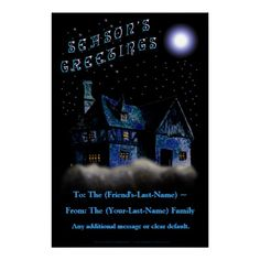 Home In The Sky (Personalized Holiday Door Poster)
