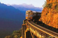 O trem da Serra do Mar, no Paraná, liga Curitiba à charmosa cidade de Morretes