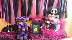 Nightmare Before Christmas baby shower Jack Skellington diaper cake