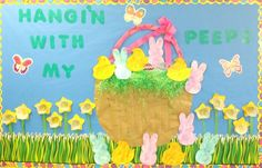Easter is fast approaching and it's time to start planning how you're going to decorate your classroom! Here is a list of 10 good Easter bulletin board ideas to get the kiddos involved! Easter Bulletin Boards, Preschool Bulletin Boards, Classroom Bulletin Boards, Bullentin Boards, Classroom Door, Classroom Ideas, Future Classroom, Daycare Crafts, Preschool Crafts