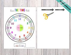 Montessori Telling Time, Learning whats is the time, Homeschool Activity, Educational Material, Digital Preschool Special Education, Preschool Themes, Preschool Printables, Learning Time Clock, Telling Time Activities, Task Boxes, School Psychology, Learning Disabilities, Social Skills