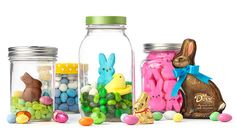Easter baskets in a jar