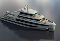 42m explorer yacht came to life due to the collaboration between CCN (Cerri Cantineri Navali) and Floating Life. Named Commander, the project has been unveiled at the Cannes Yachting Festival.