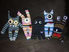 Sock Monsters -- with detailed instructions for one monster