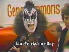 "KISS 1978 Gene Simmons Solo Album ""In-Store"" Exclusive World-Premiere - YouTube Kiss Memorabilia, Vintage Kiss, Hot Band, Gene Simmons, Demons, San Francisco, Singer, Football, Album"
