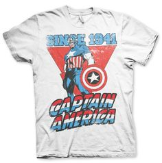 Marvel Captain America Since 1941 Koszulka Męska