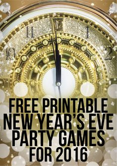 These four free printable 2016 New Year's Eve party games are ...
