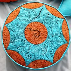 Jana Dohnalová: hand dyed and free motion quilted