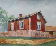 Kalle Aaltonen: Härmän talo, Forssa, öljymaalaus, 1941 Cabin, House Styles, Painting, Home Decor, Art, Art Background, Decoration Home, Room Decor, Cabins