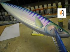 Lure Painting: How to Paint a Mackerel Crankbait - Marling Baits