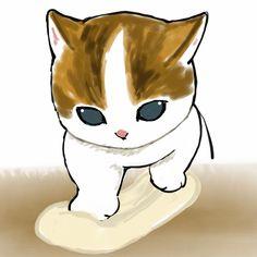 South Korean Women, Kitten Drawing, Cat Art, Scooby Doo, Art Drawings, Kittens, Cute Animals, Kawaii, Animation